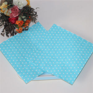 Blue Dots Paper Napkin Wedding Decoration pictures & photos