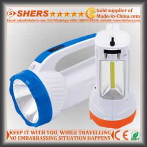 Rechargeable 1W LED Torch with COB LED Desk Light (SH-1982) pictures & photos