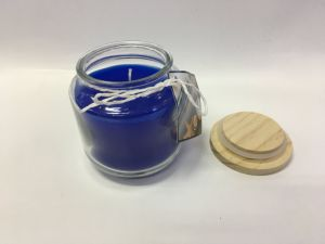 Customized New Disign Blue Scented Candle with The Wood Lid. pictures & photos