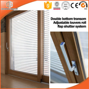 Lift and Slide Door with Fixed Sash, Customized Size Solid Wood Clad Thermail Break Aluminum Lift & Sliding Door pictures & photos