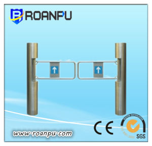 Patented Design Intelligent Card Reader Upright Swing Barrier with CE&SGS&ISO Certification
