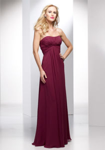 2015 Strapless Chiffon A-Line Briesmaid Dresses (BD3027) pictures & photos
