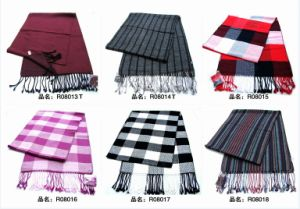 New Design Men′s Fashion Viscose Scarf (08013-08018) pictures & photos