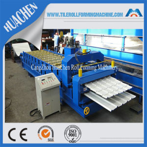 Double Deck Metal Roof Glazed Tile and Ibr Sheet Roll Forming Machine