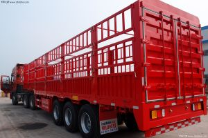 Cimc 3axles Semi-Trailer 70t Capacity Fence Cargo Semi Trailer