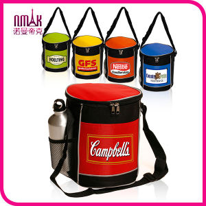Economic 10-Cans Round Zippered Lunch Picnic Game Bulk Cooler Bag Multi Colors Combo
