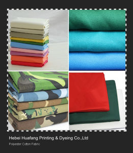 Poplin and Twill Polyester Cotton Garment Fabric pictures & photos