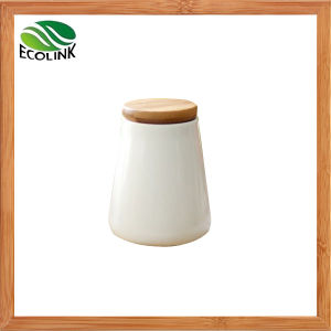 Ceramic Seal Pot / Spice Jar with Bamboo Lid pictures & photos