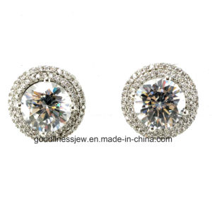Good Quality and 2015 Wholesale Fashion Jewelry 925 Sterling Silver Plated Earring E6228 pictures & photos