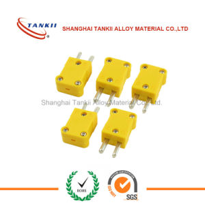 K type Thermocouple connectors mini with yellow color in stock pictures & photos