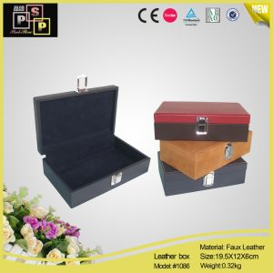 PU Leather Rectangle Cigar Case (1086) pictures & photos