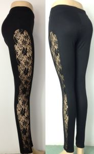 Hot Sexy Women Lace Leggings, Black Lace Leggings for Women (LC03)