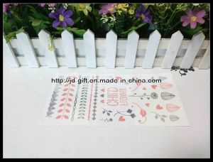 New Fashionable Mixed Red $ Sliver Temporary Metallic Tattoo Sticker pictures & photos