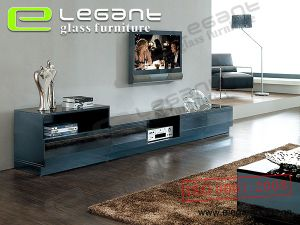 MDF TV Stand with Glass Top -T335 pictures & photos