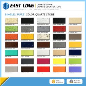 Pure Color Quartz Stone Slabs, Pure White Quartzite Stone, Pure Black Quartz Kitchen Countertop pictures & photos