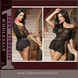 Black Sexy Lady Mesh Underwear Night Wear Teddy (3181) pictures & photos
