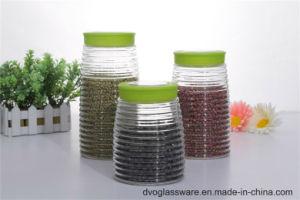 Glass Storage Jar with Plastic Lid