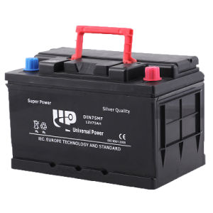 Top Battery! Popular Calcium DIN75mf Car Battery with Cheapest Price