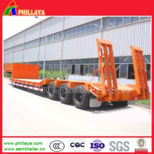 2axles 30 Tons Lowboy Concave Beam 3axle Low Bed Semi-Trailer pictures & photos