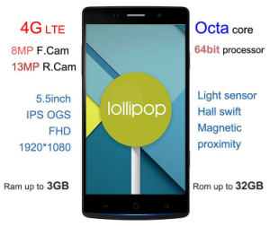 5.5inch Mt6752 Octa Core 3G RAM 4G Lte Cellphone pictures & photos
