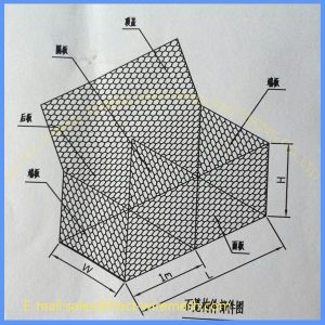 PVC Coated Galvanized Rock Basket Gabion Mesh pictures & photos