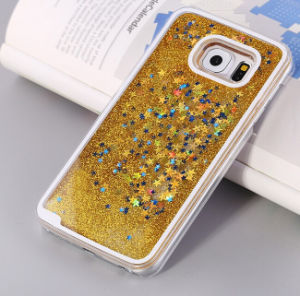 Mobile Phone Accessory Cell Phone Case 3D PC Liquid Sand Quicksand Case for Samsung S5/S6/S7 for Samsung J2/J4/J5/J7 pictures & photos