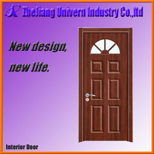 Wood Entry Door with Frosted Glass pictures & photos
