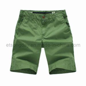 2016 Hot Sale Green 100% Cotton Men′s Shorts (APC-LENNY) pictures & photos
