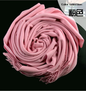 Winter Solid Color Shawl Cashmere Pashmina Wool Scarf for Sale pictures & photos
