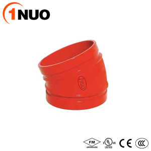 1nuo Casting FM/UL/Ce Pipe Fitting Ductile Iron 22.5 Degree Elbow pictures & photos
