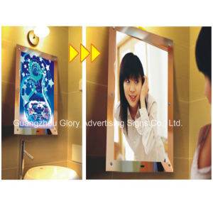 Mirror Motion Sensor and Magic Advertising Mirror LED Light Box pictures & photos