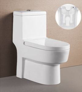 2014 Hot Sell Water Saving Wash Down S-Trap One Piece Toilet
