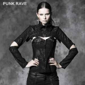 Wholesale Corporate Gothic Punk Cool Design Jacket with Corset (Y-484) pictures & photos
