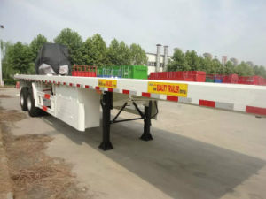 Container Carring Flatbed Container Semi-Trailer pictures & photos