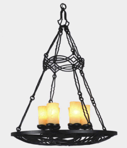 Classic Wrought Iron Candle Pendant Lamp for Restaurant pictures & photos