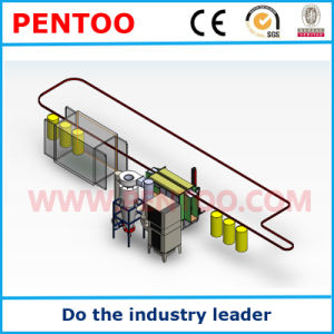 Powder Coating Line for Painting Security Door pictures & photos