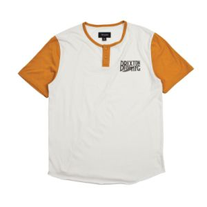 Men′s 60%Cotton 40%Poly Jersey Henley Contrast Placket T-Shirt
