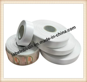 Barcode Printing Polyester Satin Ribbon (dB110#) pictures & photos