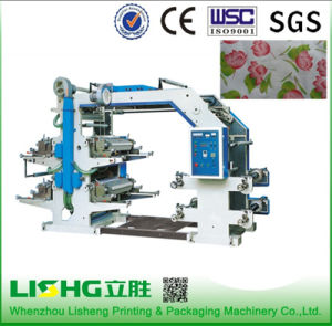 Stack Type 4 Color High Speed Nonwoven Fabric Printing Machine pictures & photos