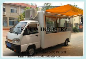 Mobile Kitchen Pizza Oven Trailer Mobile Restaurant Hot Dog Kiosk with Awnings pictures & photos