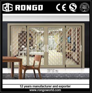 Aluminum 4 Panels Sliding Glass Doors pictures & photos