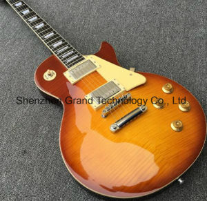 Standard Lp Electric Guitar with Flame Maple Top (GLP-190) pictures & photos