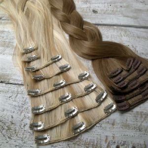 European Remy Double Drawn Clip in Human Hair Extension pictures & photos