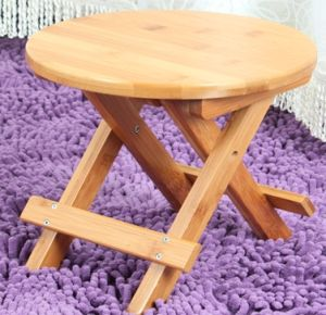 Folded Bamboo Round Stools for Household (QW-JCSG08) pictures & photos