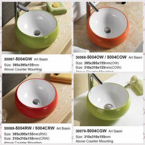 Ningjie Sanitary Ware Bathroom Furniture Ceramic Washing Basin (30067) pictures & photos