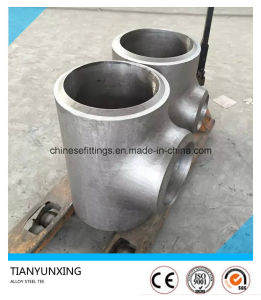 Alloy Steel Seamless P11 P22 Pipe Tee with Double V End pictures & photos