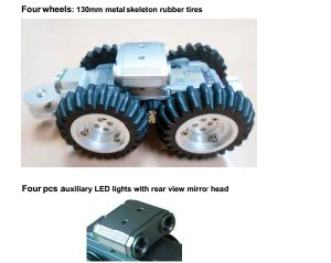 Multifunctional Pipe Robot Crawler with Pan / Tilt Camera, 100m Testing Cable