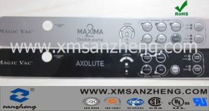 Customized Glossy PC Membrane Panel Sticker with Convex Press-Button pictures & photos