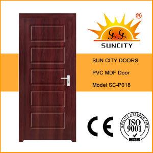 New Design Interior Wood MDF Door PVC Film (SC-P039) pictures & photos