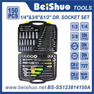 "Cheap Price 150PCS 1/2""1/4""Driver Socket Set for Car Tools pictures & photos"